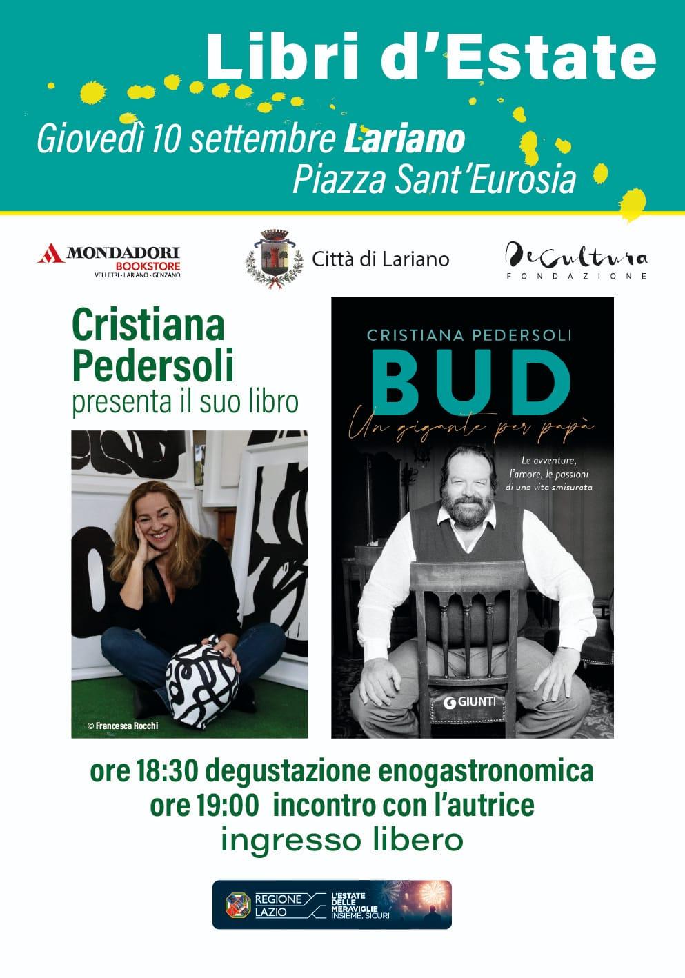 Lariano - Libri d'Estate: Cristiana Pedersoli presenta il suo libro