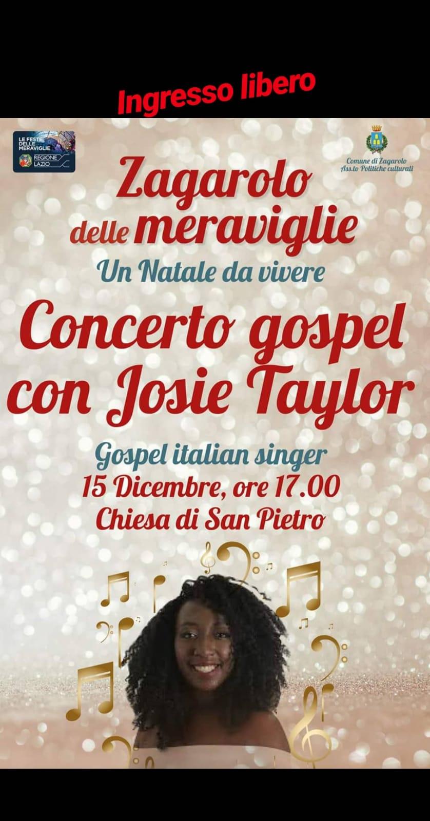 Concerto Gospel con Josie Tajlor