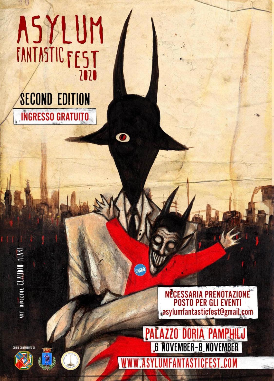 Dell' Asylum Fantastic Fest: dal 6 all' 8 novembre 2020 a Valmontone.