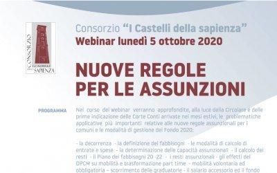Corso webinar - 5 ottobre 2020 - Nuove regole per le assunzioni
