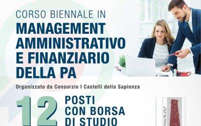"""AVVISO PUBBLICO - Prima Edizione del Corso di Formazione biennale in """"Management Amministrativo e Finanziario della PA"""""""
