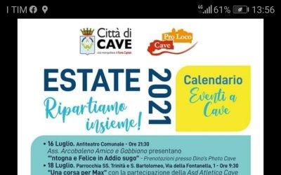 Cave - Il Programma completo dell'estate 2021